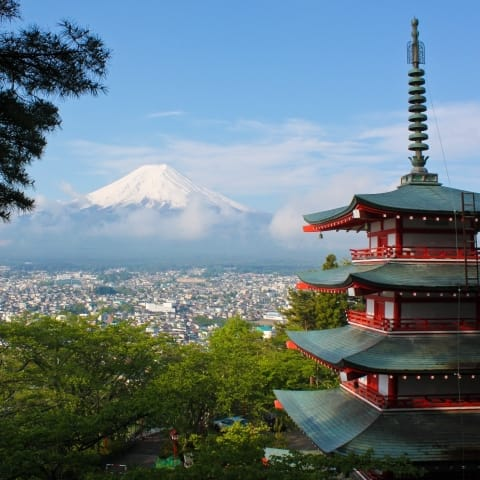 First Time In Japan Fuji View From Pagoda