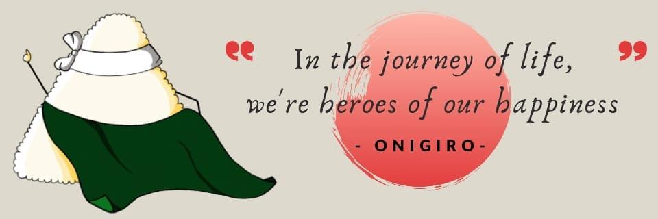 Homepage Onigiro Quote