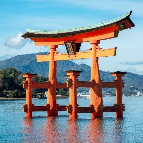 Chugoku Itsukushima Floating Torii